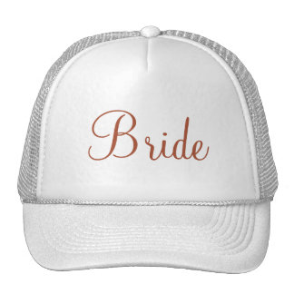 Custom Hat for the Bride, Bridesmaids or Mother Mesh Hat