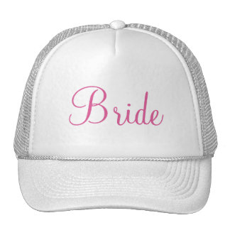 Custom Hat for the Bride, Bridesmaids or Mother Trucker Hat