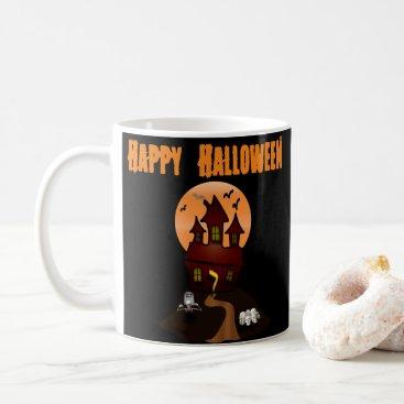 Beach Themed Custom Haunted House Halloween Mug