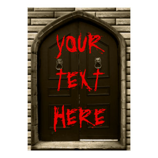 Custom Haunted House Sign Scary Halloween Poster