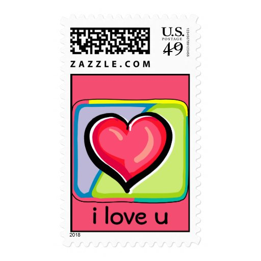 Custom Heart Postage Stamps