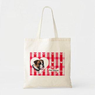 Custom Heart Shaped Boxer Cotton Tote Bag