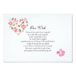 Custom Heart Wedding Wishing Well Invitation