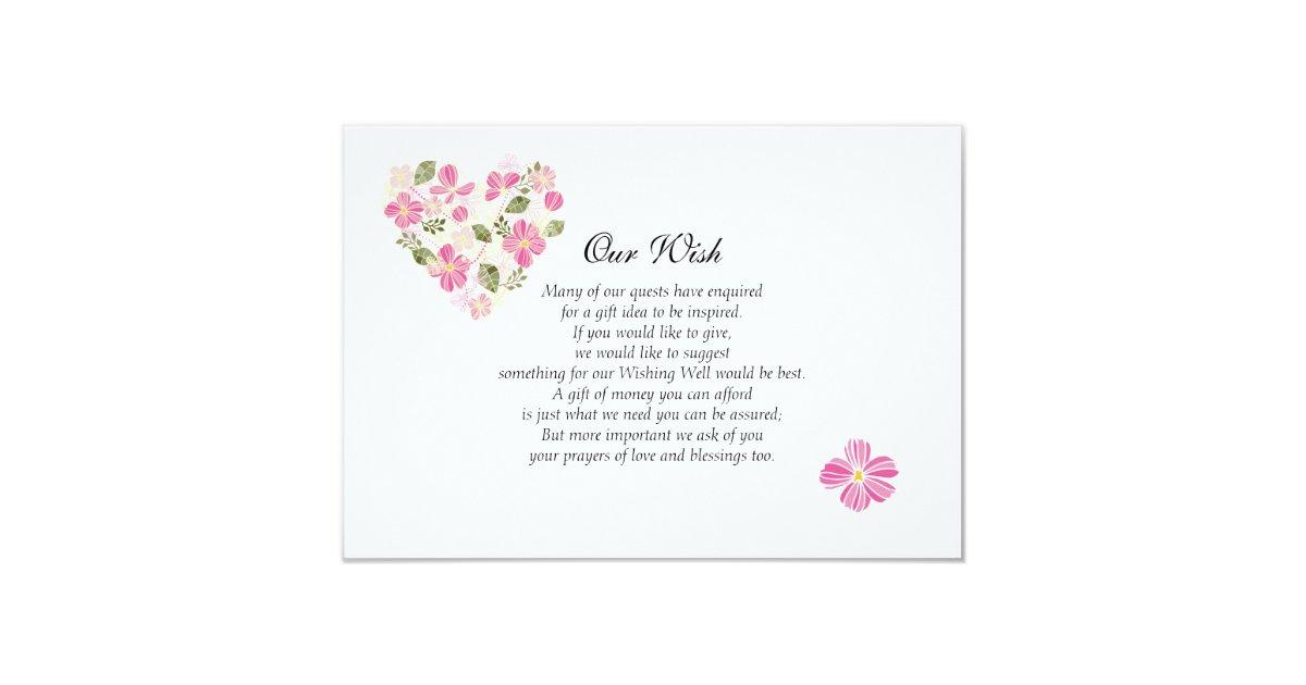 Custom Heart Wedding Wishing Well Invitation