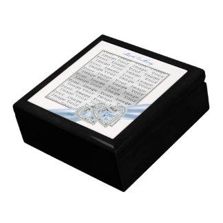 Custom Hearts Ice Blue Ribbon Gift Box