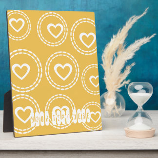 Custom Hearts Love Baby Shower Birthday Gift Plaque