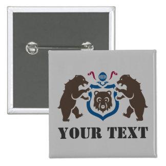 Custom Heraldic Bears Button