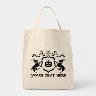 Custom Heraldic Halloween Tote Bag