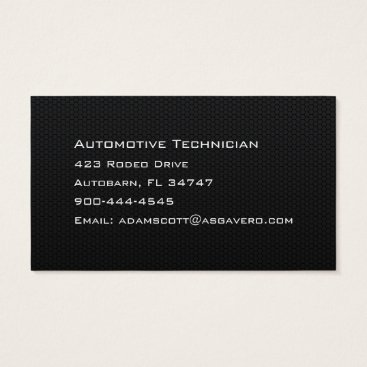 Beach Themed Custom Hexagonal Honeycomb Carbon Fiber Business Card