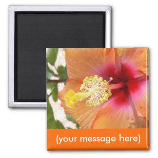 Custom Hibiscus Magnet