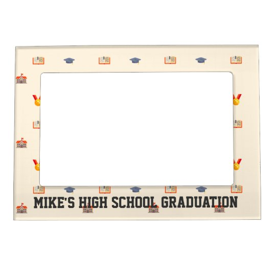 custom high school graduation commemorative magnetic frame | Zazzle.com