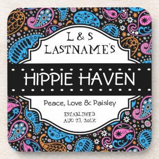 Custom Hippie Hangout Home Bar Coaster