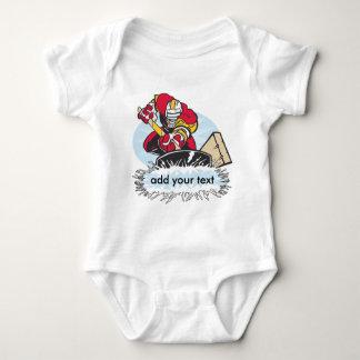 Custom Hockey Player Baby Bodysuit