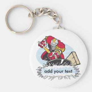 Custom Hockey Player Keychain