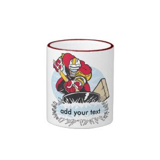 Custom Hockey Player Ringer Coffee Mug
