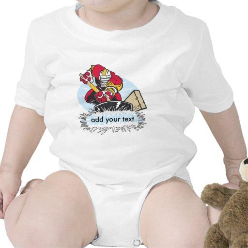 Custom Hockey Player T Shirt