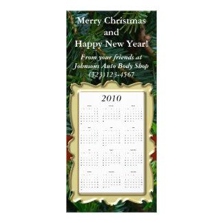 Custom Holiday Calendar Card, Christmas/New Year Rack Card