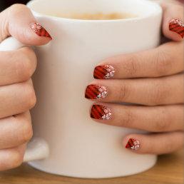 Custom Holiday / Christmas Red Snowflake Nail Art