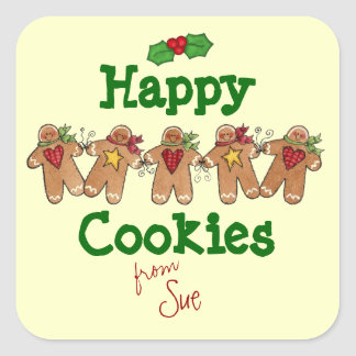 Custom Holiday Cookie Gift Stickers