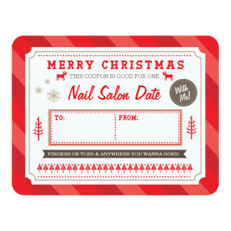 Custom Holiday Gift Coupon by Origami Prints Invitations