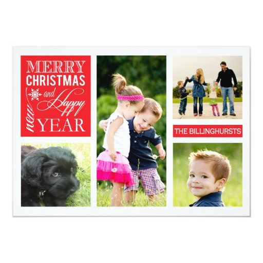Custom  |  Holiday Photo Card Custom Invitation