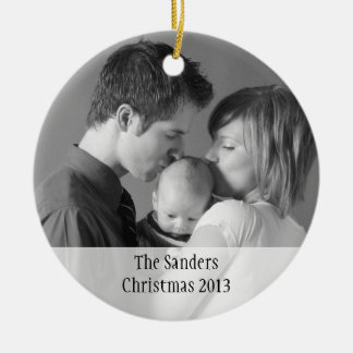 Custom holiday photo memory sentimental keepsake ceramic ornament