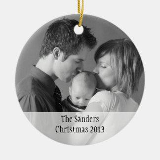 Custom holiday photo memory sentimental keepsake christmas tree ornament