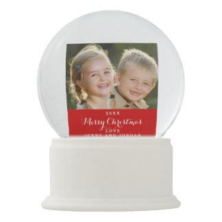Custom Holiday Photo Snow Globe