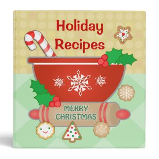 Custom Holiday Recipe Binder