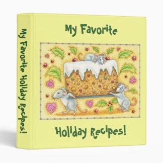 Custom Holiday Recipes Binder!