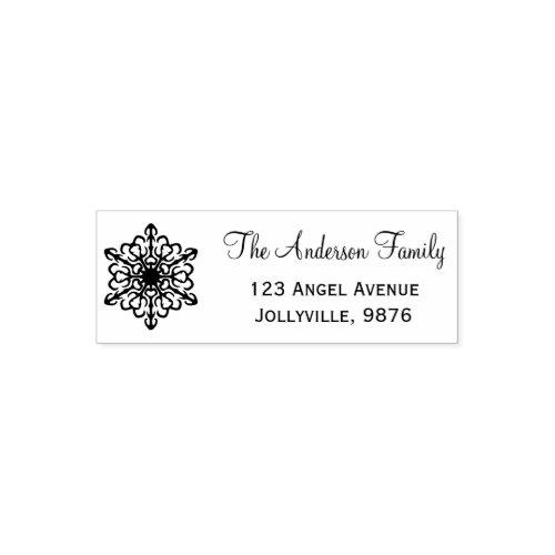 Custom Holiday Snowflake Return Address Self_inking Stamp