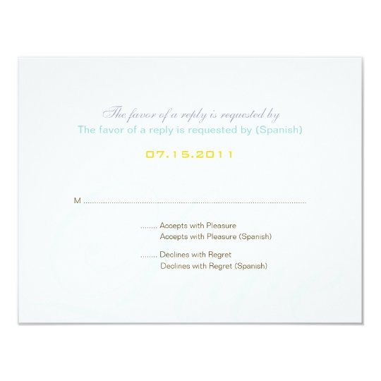 ::custom:Hollyhock & Ampersand Bilingual RSVP Card