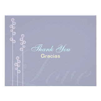 ::custom:Hollyhock & Ampersand Bilingual Thank You Announcements