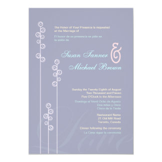 ::custom:Hollyhock & Ampersand Bilingual Wedding Card