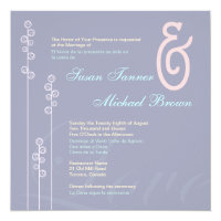 ::custom: Hollyhock & Ampersand Bilingual Wedding Card