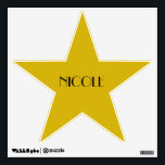 "Custom Hollywood Birthday Dressing Room Door Star Wall Sticker<br><div class=""desc"">These gold star decals make the perfect wall decor for your awards night birthday party.</div>"