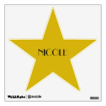 Custom Hollywood Birthday Dressing Room Door Star Wall Sticker<br><div class='desc'>These gold star decals make the perfect wall decor for your awards night birthday party.</div>
