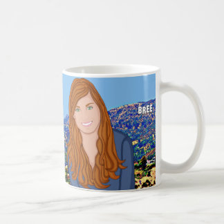 Custom Hollywood Hills Illustration Mug