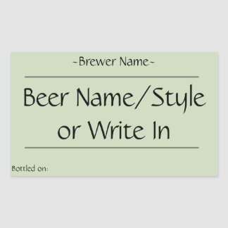 Custom Home Brew Beer Bottle Labels (rectangular)