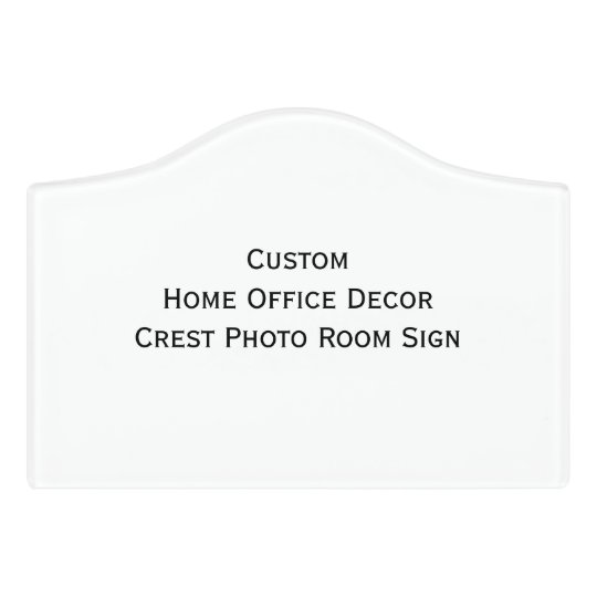 Custom Home Decor Signs: Custom Home Office Decor Crest Photo Room Sign