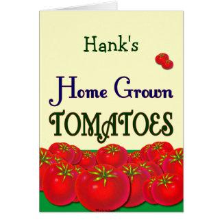 Custom Homegrown Tomato Garden Slogan Card