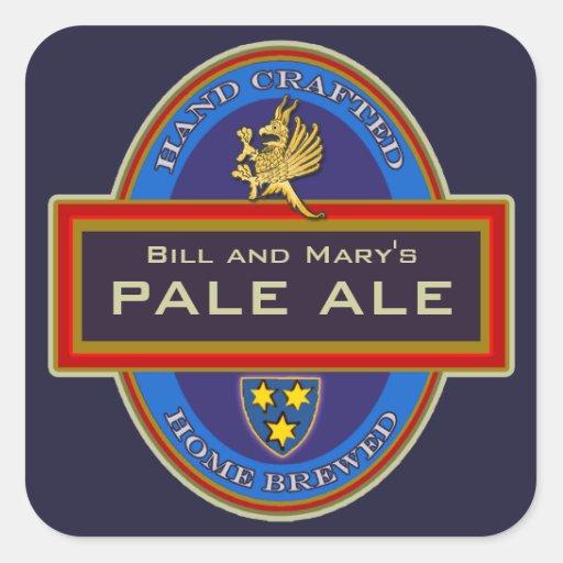 Custom Homemade Beer Labels Square Sticker