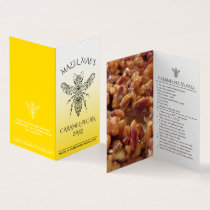 Custom Homemade Caramel-Pecan Bars Honey Labels Business Card