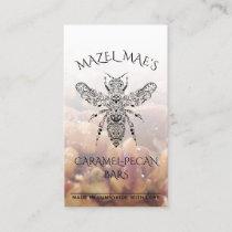 Custom Homemade Caramel-Pecan Bars HoneyBee Recipe Business Card