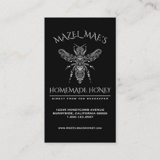 Custom Homemade Honey Business Card