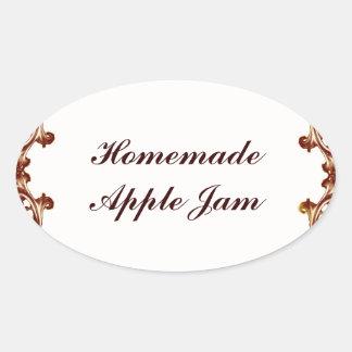 Custom Homemade Jam preserve label sticker