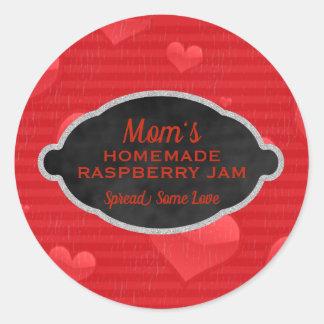 Custom Homemade Raspberry Jam Canning Jar Lid Classic Round Sticker