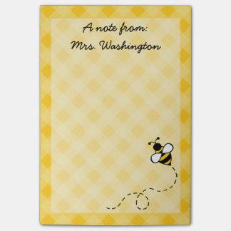 Custom Honey Bee Teacher's Post It Notes Gift