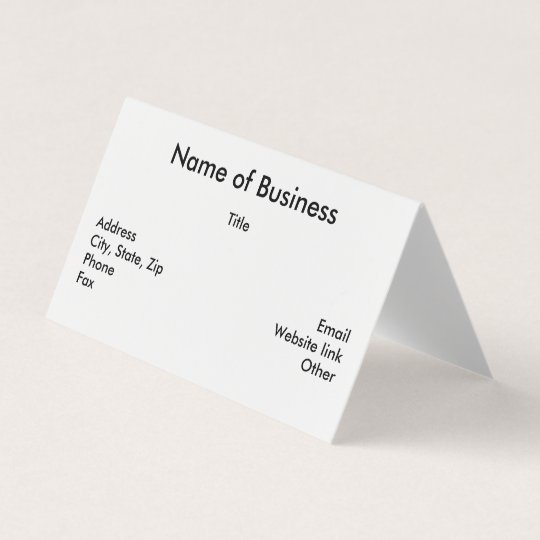 Custom horizontal tent fold folded business card zazzle custom horizontal tent fold folded business card reheart Images