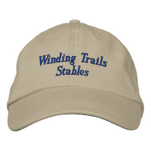7a240097333 Custom Horse Equine Boarding Stable Business Embroidered Baseball Hat